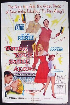 Bring Your Smile Along 1955 Frankie Laine Keefe Basselle Original US Poster