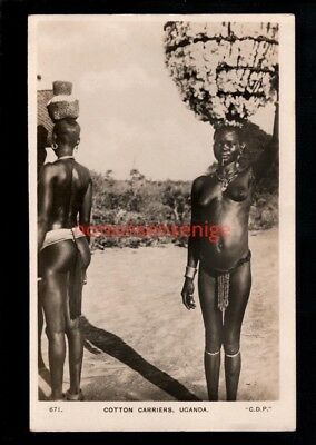 B.E.A. British East Africa NUDE NU NAKED WOMEN UGANDA COTTON C D Patel RP PC -65