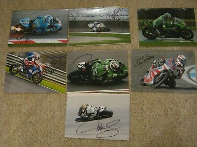 7 Mixed Hand Signed Moto Gp Pictures