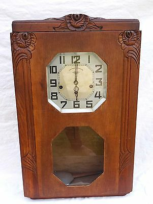 French Art Deco Westminster Wall Clock Chime Carillon 8 Hammers 8 Gongs Girod