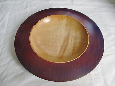 Large Modernist Turned English Sycamore Wooden Bowl by Les Thorne - 12.75 Inches