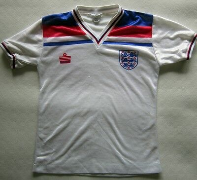 Vintage England Shirt 1980-83 by Admiral - Youths Size Chest 74-79 cm 29-31""