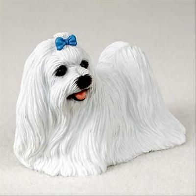 Maltese Dog Hand Painted Canine Collectable Figurine Statue