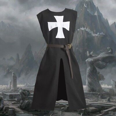 1pc Meidieval Knights Hospitaller Tunic Gothic LARP Cosplay Costume