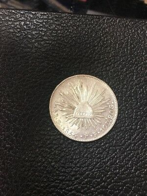 1854 Mexico 8 Reales Go P.F. *Choice AU* Booming Luster!
