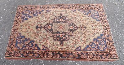 Very Good Quality Antique Oriental Rug  Great Colors Very Tight Weave