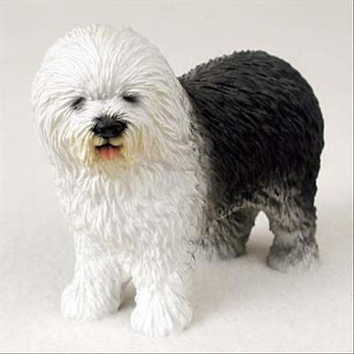 Old English Sheepdog Dog Hand Painted Canine Collectable Figurine Statue