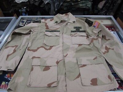 Desert Storm OIF US 3 color 173rd Airborne brigade PFC tunic, HK as PFC  Ia