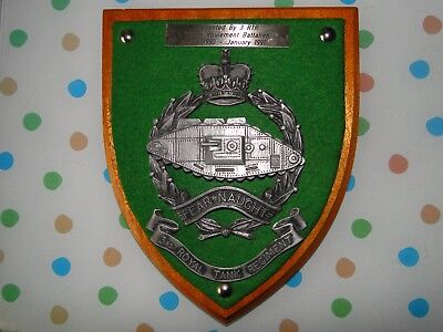 Plaque presented to Caledon Royal Ulster Constabulary by 3 Royal Tank Reg.