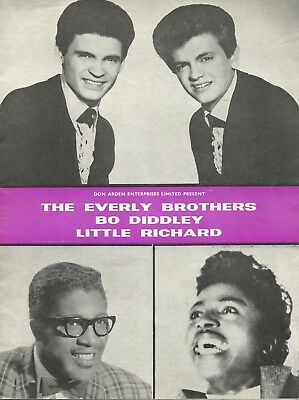 1962 EARLY ROLLING STONES * EVERLY BROS * LITTLE RICHARD * BO DIDDLEY * Program