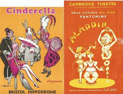 Collection Of Vintage Pantomime Programmes-Many Stars