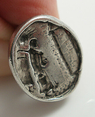Georgian White Metal Intaglio Fob Seal Of An Ancient Figure.