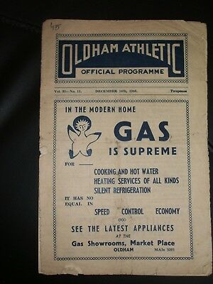 Oldham  Athletic  V  Doncaster  Rovers  ( Fac R2)  14-12-1946