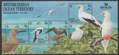 British Indian Ocean Territory 2002 QEII Birdlife Red-Footed Booby MS Mint UM