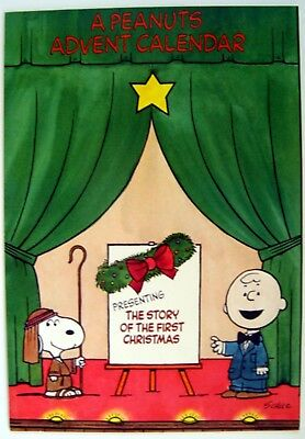 1970's Peanuts SNOOPY ADVENT CALENDAR - THE STORY OF CHRISTMAS - Never Used