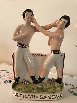 Heenan and Sayers Reproduction Staffordshire Prizefighters Boxers Ornament
