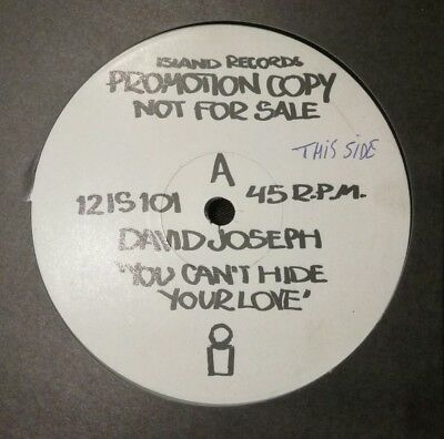 """David Joseph - You Can't Hide Your Love 12"""" Promo 12 Is 101 Island 1983 Vg+!"""