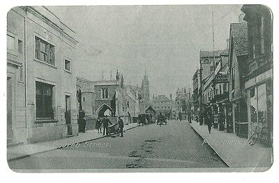 Peterborough - a silvered photographic postcard of Church Street