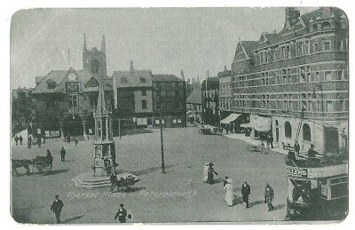 Peterborough - a silvered photographic postcard of Market Place