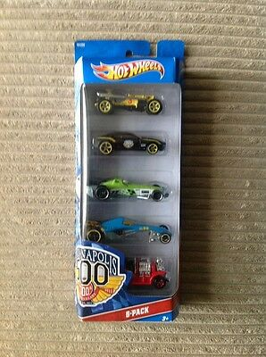 HOT WHEELS 5 PACK INDIANAPOLIS 100th ANNIVERSARY 2011  SEALED