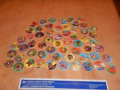 "LOT OF 58 ORIGINAL 1990s RAT FINK POGS - ALL DIFFERENT - ED ""BIG DADDY"" ROTH NOS"