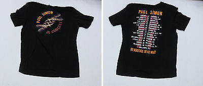 Paul Simon In Concert So Beautiful Or So What Concert Tour T-Shirt Size Large