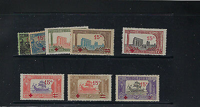 Tunisia,b 12- B 19, Fvf,lh,h,og. 1918 Surcharged Group.