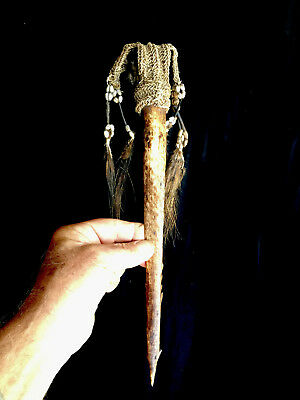 Fine old and authentic bone dagger central asmat - Papua (New Guinea)