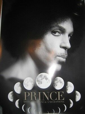 PRINCE Piano and Microphone Poster Moon Phases Tour 2016 concert