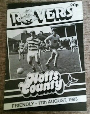 Doncaster Rovers v Notts County Friendly Programme 17/08/83