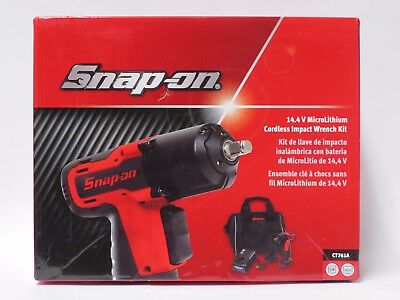 """SNAP ON  14.4 V 3/8"""" Drive MicroLithium Cordless Impact Wrench Kit - CT761A"""