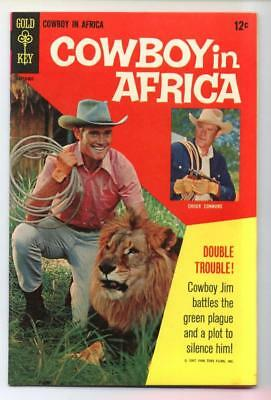 Cowboy in Africa #1 (Chuck Connors) Silver Age-Gold Key FN/VF  {Randy's Comics}