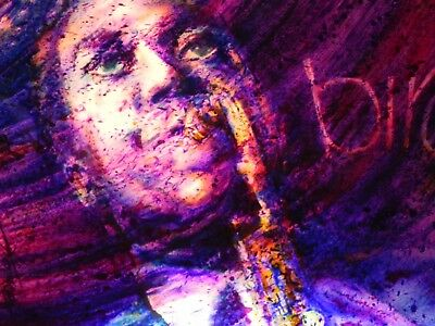"Fabulous Lit 3 Dimensional Painting Of Jazz Great ""bird"" Charlie Parker"