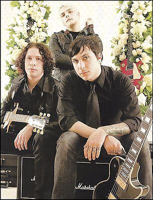 My Chemical Romance Gibson Les Paul Marshall Guitar Amps 8 x 11 pin-up photo