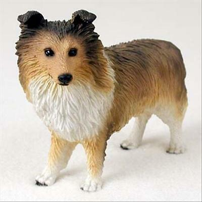Sheltie Sable Dog Hand Painted Canine Collectable Figurine Statue