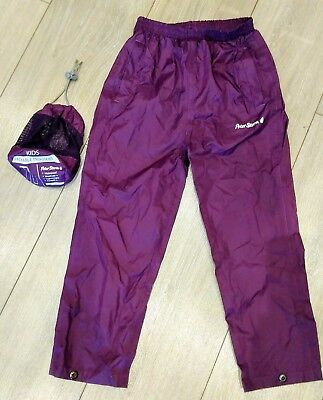 Waterproof Trousers Age 5-6 Children's Purple Peter Storm with Packaway Bag