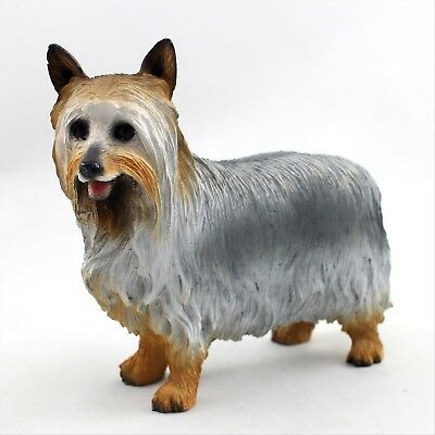 Silky Terrier Dog Hand Painted Canine Collectable Figurine Statue