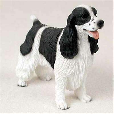 Springer Spaniel Black Dog Hand Painted Canine Collectable Figurine Statue
