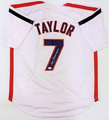 "Tom Berenger ""taylor"" Signed Indians Custom Whte Jersey Jsa Authenticated"