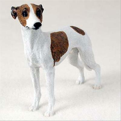 Whippet Tan White Dog Hand Painted Canine Collectable Figurine Statue