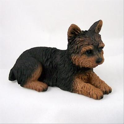Yorkshire Terrier Sport Dog Hand Painted Canine Collectable Figurine Statue