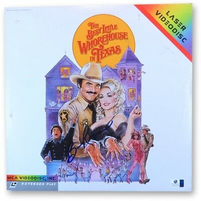 Burt Reynolds Signed Autographed Laserdisc Cover Best Whorehouse in Texas 865952