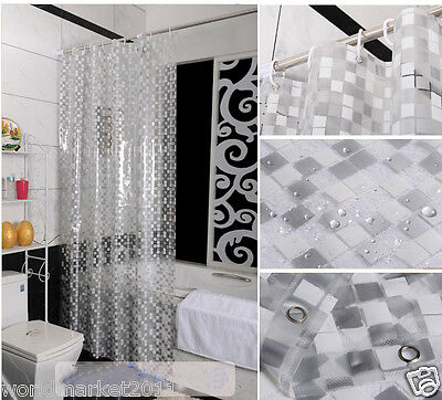 New Fashion PVC Waterproof Environmental Bathroom Shower Curtain Transparent