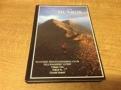 The Munros Scottish Mountaineering Club Guide Hardback With Cutting Essential