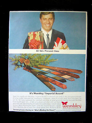 1963 Full page AD=JERRY LEWIS (Comedian)=NECKTIES (WEMBLEY)