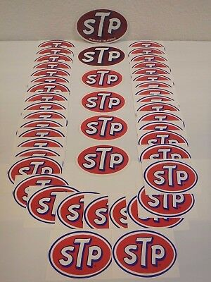 Vintage NOS Lot (45) 1960's-1980's STP Motor Oil Stickers Indy 500 Auto Racing