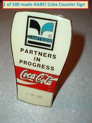 Coca Cola Soda Pop Coke Display Counter Sign RARE 1 in 500 MADE Advertisement