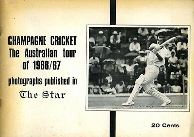 Champagne Cricket, the Australian tour of South Africa 1966-67 RARE BROCHURE