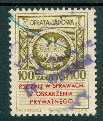 Poland 1955 - 100 zl. Court Fee in matters of private litigation - Revenue