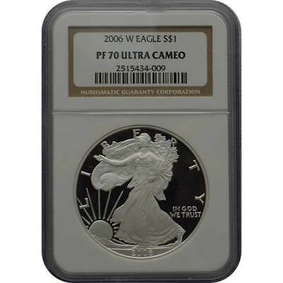 2006-W Proof Silver Eagle NGC PF70 One Dollar Coin